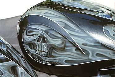 Custom Motorcycle Paint Los Angeles